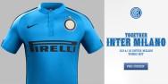 CLB Inter Milan sân khách xanh dương 2014 2015 (Đặt may)
