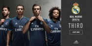 Áo thi đấu Real Madrid xanh đen cúp C1 2015 2016