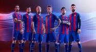 Áo bóng đá Barcelona 2016 2017 sân nhà