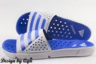 Dép Adidas Revo Đế Lỗ trắng xanh dương