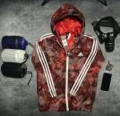Áo khoác gió Adidas Neo Camouflage Windbreaker đỏ