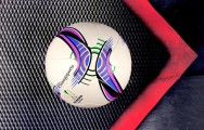 Banh bóng đá sân cỏ Adidas Europa league tím