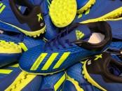 Giày bóng đá phủi Adidas X xanh đế TF
