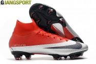 Giày sân cỏ tự nhiên Nike Mercurial Superfly VII Elite đỏ xám FG