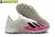 Giày sân cỏ nhân tạo Adidas X 19.1 trắng hồng TF