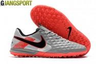 Giày sân cỏ nhân tạo Nike Tiempo Legend VIII Pro xám TF