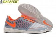 Giày futsal Nike Lunar Gato II xám cam IC - Size 39, 45