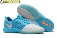 Giày futsal Nike Lunar Gato II trắng xanh IC - Size 45