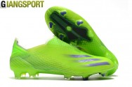 Giày sân cỏ tự nhiên Adidas XGhosted không dây xanh FG