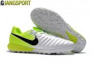 Giày đá banh Nike Tiempo Ligera IV trắng xanh TF