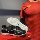 Giày đá bóng Puma King 1.1 đen IC (Chính hãng) - Size 42