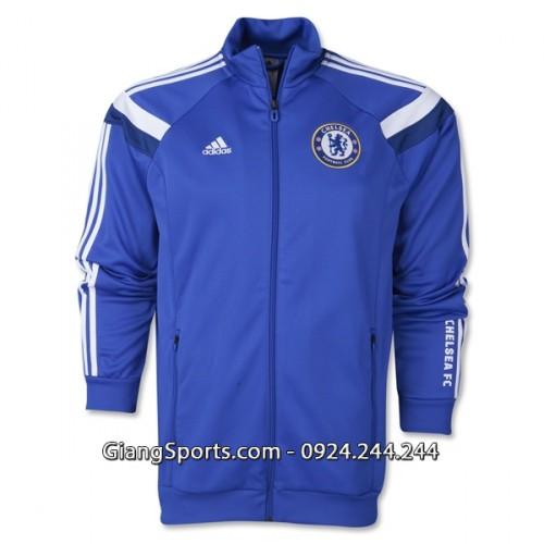 Áo khoác bóng đá Chelsea xanh 2014 2015
