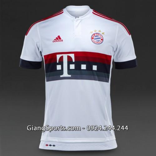 CLB Bayern Munich trắng sân khách 2015 2016 (Đặt may)
