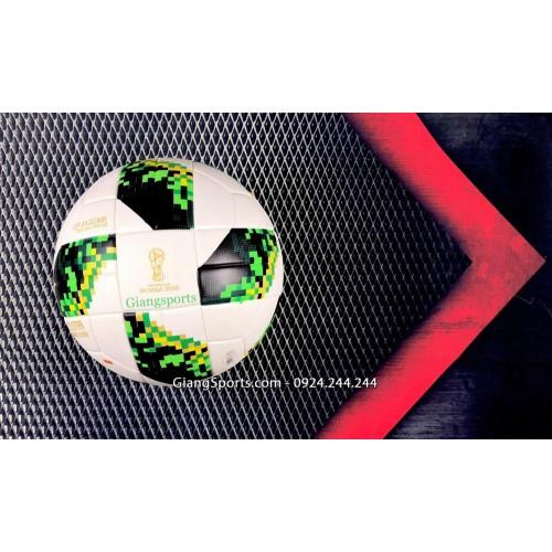 Banh bóng đá Adidas Telstar World Cup 2018 xanh