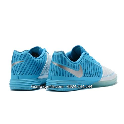 Giày futsal Nike Lunar Gato II trắng xanh IC