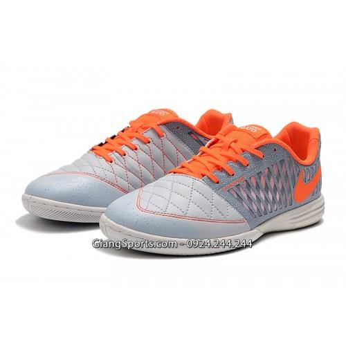 Giày futsal Nike Lunar Gato II xám cam IC