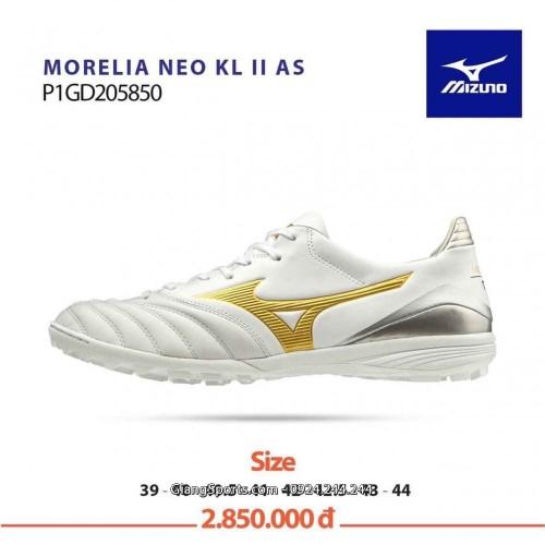 Giày đá bóng Mizuno Monarcida Neo KLII AS trắng TF (Chính hãng)