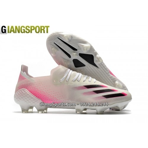 Giày sân cỏ tự nhiên Adidas X Ghosted 20.1 trắng hồng FG