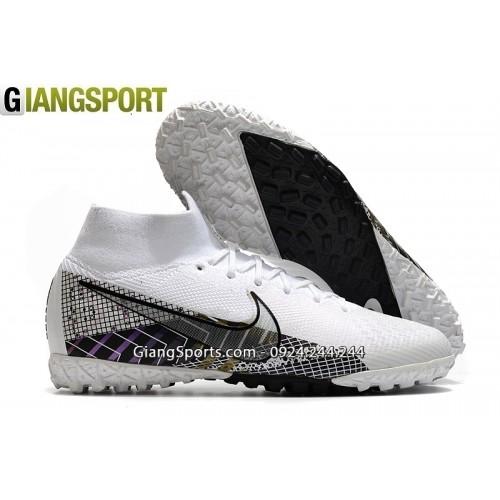 Giày sân cỏ nhân tạo Nike Mercurial Superfly 7 Elite MDS trắng TF
