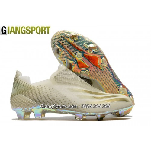 Giày sân cỏ tự nhiên Adidas XGhosted không dây trắng FG