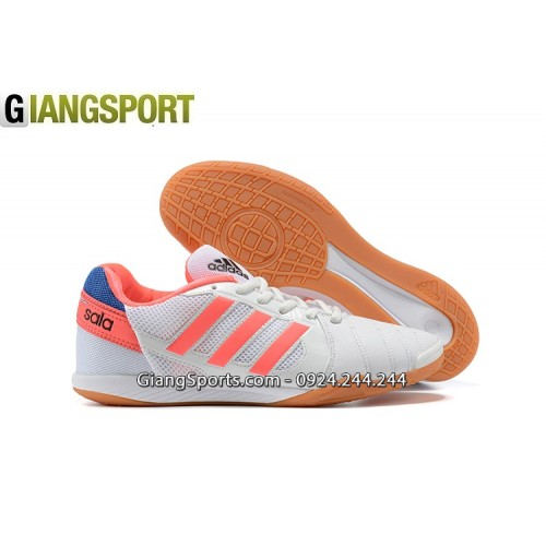 Giày sân futsal Adidas Super Sala trắng cam IC
